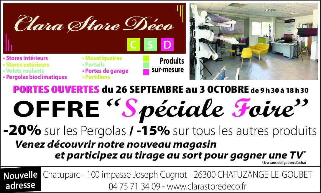 JOURNÉE PORTES OUVERTES DU 26 SEPTEMBRE AU 3 OCTOBRE 2020